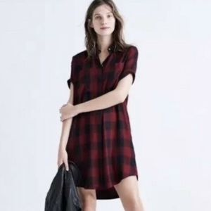 Madewell | plaid voile shirt dress | Size S